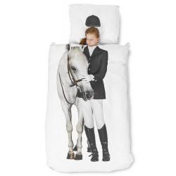 Reiterin mit Pferd...